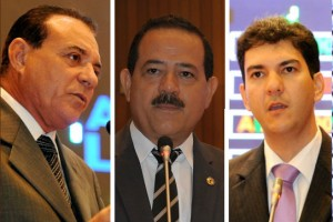 Deputados Eduardo Braide (PMN), Raimundo Louro (PR) e Raimundo Cutrim (PSD).