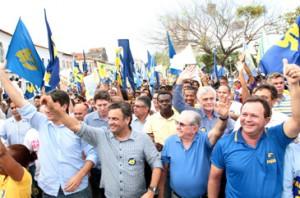O senador Aécio Neves esteve em São Luís, reforçando a campanha do prefeito João Castelo. Foto: Honório Moreira. OIMP/D.A Press