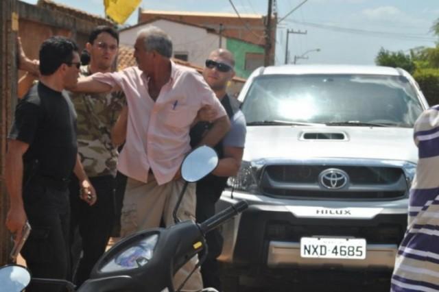 Prefeito de Buriticupu, Antônio Marcos de Oliveira, o 'Primo', preso pela PF um dia antes da eleição.