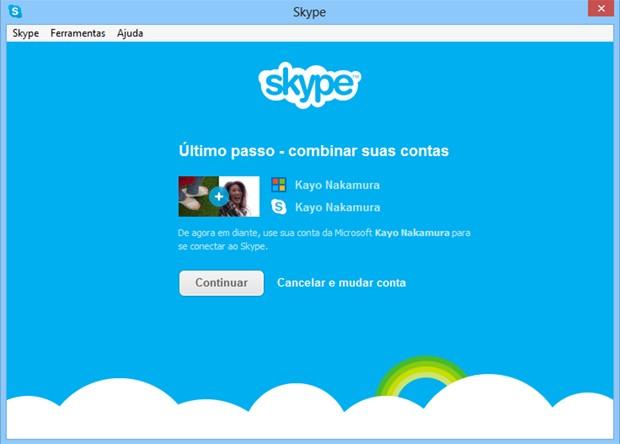 Skype agora permite login com conta de e-mail da Microsoft. Foto: Divulgação.