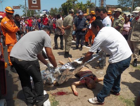 Vítimas morreram na hora. Foto: TV Mirante/Reprodução