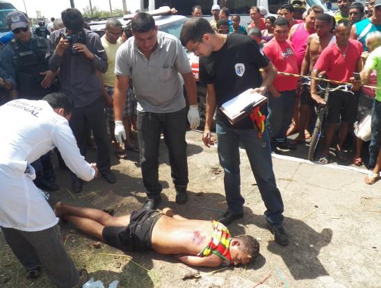 Jovem faleceu à espera de socorro no local. Foto: TV Mirante/Reprodução
