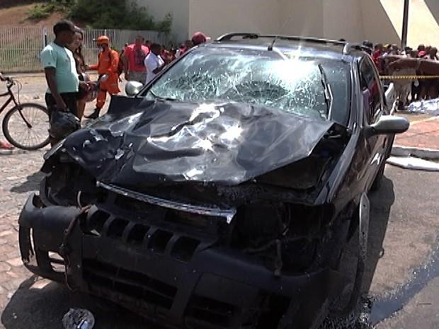 Veículo dirigido por jovem que causou acidente. Foto: TV Mirante/Reprodução