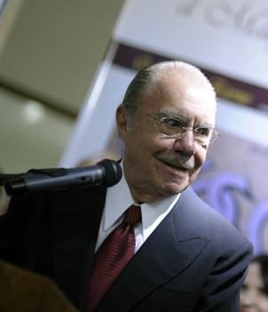 O ainda presidente do Senado Federal, José Sarney. Foto: Pedro França/ Agência Senado