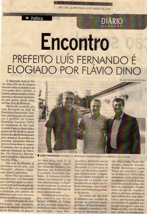 Matéria publicada no jornal Diário da Manhã no dia 19 de agosto de 2009. Foto: Reprodução