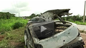 Imagens do acidente registrado na BR 316, em Bacabal.(Foto: G1 MA)