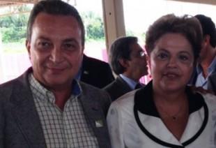 Secretário Luis Fernando Silva em bons momentos de conversa com a presidente Dilma