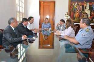 Na reuniã, foi discutida a ampliação da integração do Poder Judiciário com a Secretaria de Segurança