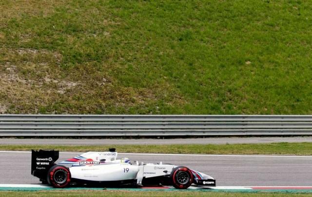 Felipe Massa em ação com a Williams no treino classificatório para o GP da Áustria (Foto: Agência Reuters)
