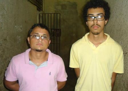 Ancleuton, conhecido como Feinho (à esquerda), o maranhense, e Anderson foram presos durante ação policial no Pará
