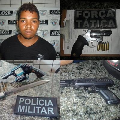 """Luiz Eduardo Santos Torres, vulgo """"Pezão"""" e armas apreendidas"""