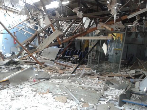 Agência do Banco do Brasil explodida em Sato Antônio dos Lopes