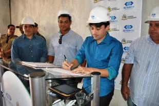 Diretor Geral do Detran-MA, André Campos, assinou a ordem de serviço