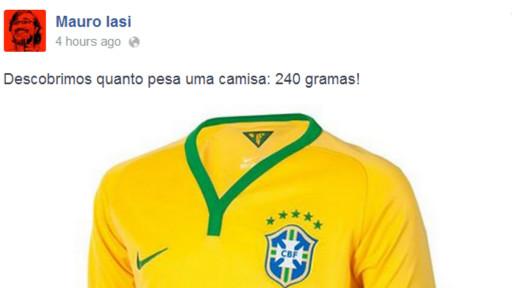 "Iasi foi irônico e comentou ""peso"" da camisa brasileira"