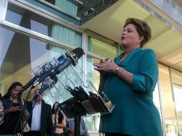 Dilma em coletiva de imprensa no Palácio do Alvorada