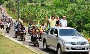 Carreata marca chegada de Glalbert a Central do Maranhão