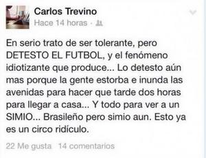 Político mexicano chama Ronaldinho de macaco no Facebook