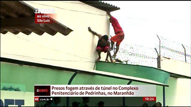 Presos de Pedrinhas pulam o muro em meio a motim