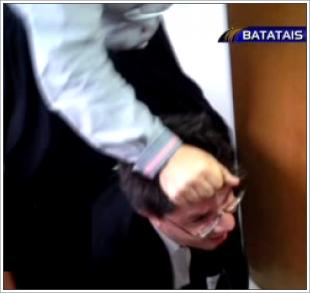 Oscar Filho sendo agredido pela vereadora Marilda Covas em Batatais, São Paulo
