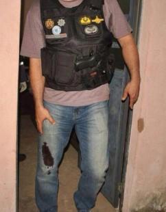 Major Medeiros, comandante do 11º BPM foi ferido com um golpe de tesoura pelo marginal