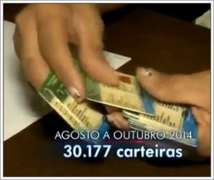 Todas essas  30.177 carteiras foram confeccionadas no Maranhão no período de agosto a outubro de 2014