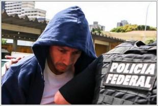 Fernando Baiano, quando se entregou à Polícia Federal, em Curitiba, na última terça