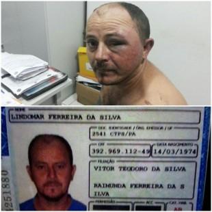 Motorista preso identificado como Lindomar Ferreira