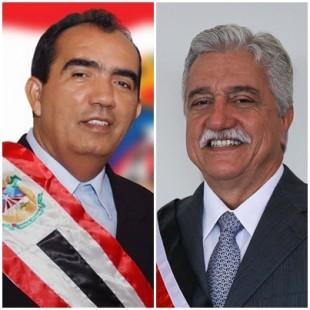 Totonho Chicote (PRB), prefeito de Pedreiras e Zé Leandro (PTdoB) de Vitorino Freire