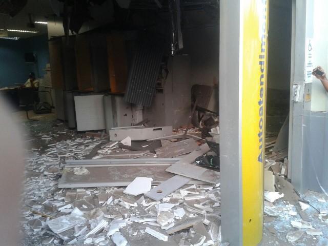 Banco do Brasil da Cidade de Timbiras, destruido com a Explosão