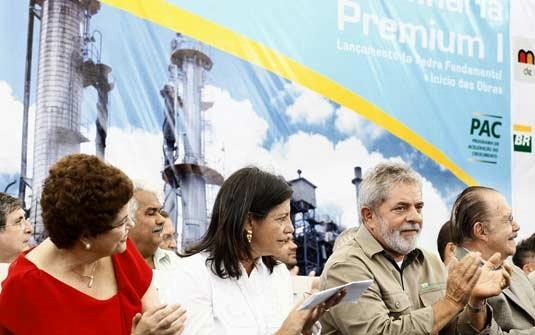 O lançamento, pelo então presidente Lula, da pedra fundamental da Refinaria Premium em Bacabeira