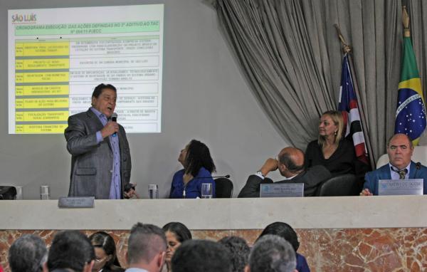 Canindé Barros fez uma explanação dos avanços já conquistados em São Luís, a partir do remodelamento do sistema de transporte