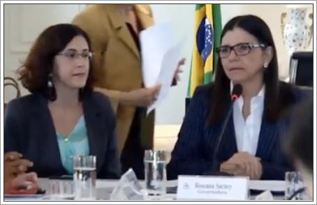 Camila Barbosa ao lado da ex-governadora Roseana Sarney