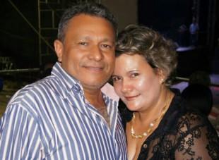 Prefeito Clodomir e primeira dama Maria Ivonete
