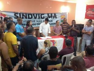 Trabalhadores estiveram reunidos na sede do Sindicato Dos Vigilantes Maranhão Sindvig-MA