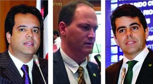 Deputados Edilázio Júnior (PV), Sousa Neto (PTN) e Adriano Sarney (PV)