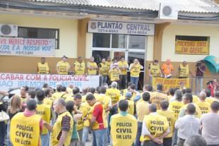 Imagem da greve ocorrida em 2011