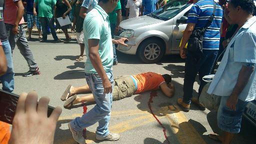Homem é assassinado na rua do passeio