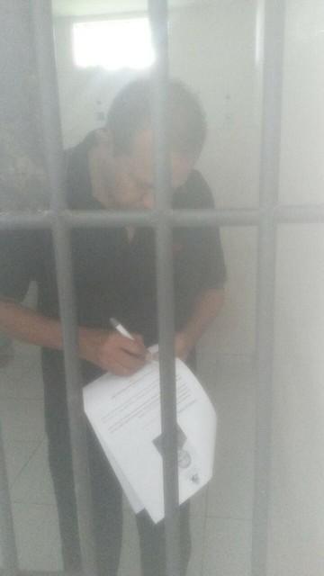 Raimundo Lisboa dentro da cela