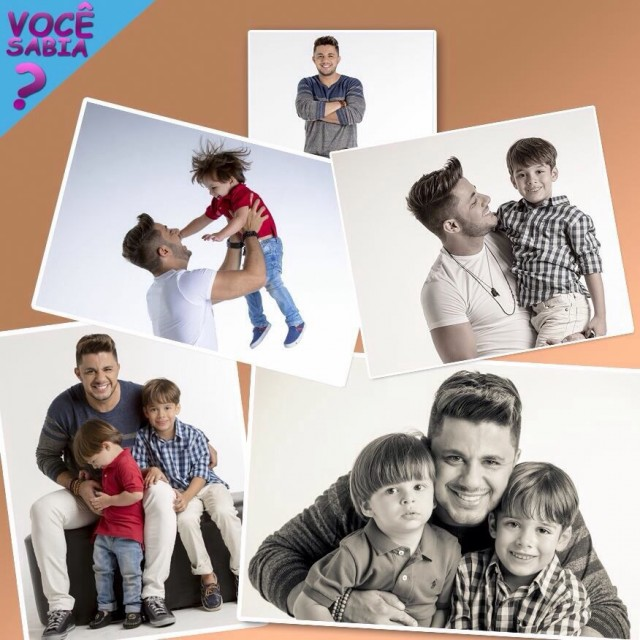 Cristiano Araújo e os filhos