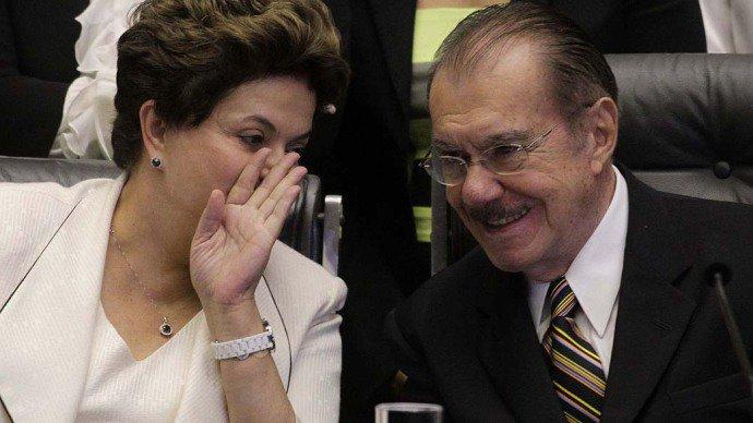 Ex-senador José Sarney e a presidente Dilma Rouseff
