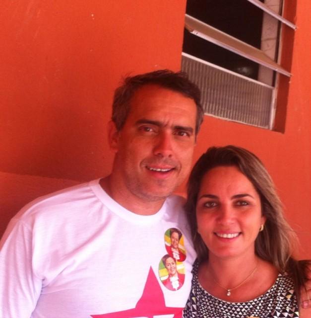 Simone Limeira e o secretario Márcio Jardim