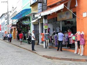 Rua Grande, principal centro comercial de São Luís