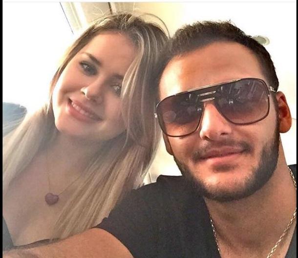 Lidiane com o namorado Felipe Carvalho