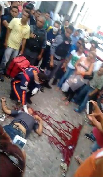Agiota é assassinado na Rua Grande, Centro de São Luís. Foto: Reprodução