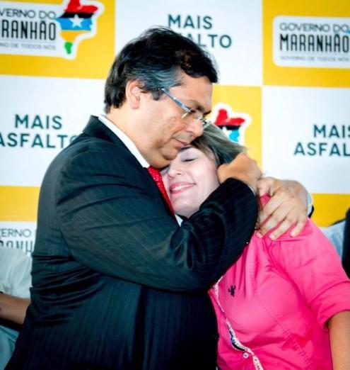 Simone Limeira e governador Flávio Dino