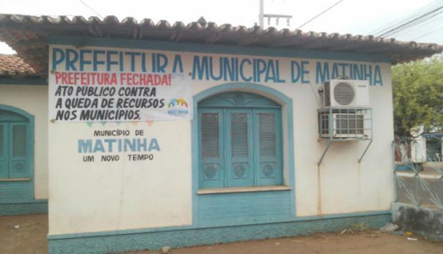 Prefeitura de Matinha também aderiu a paralisaçao