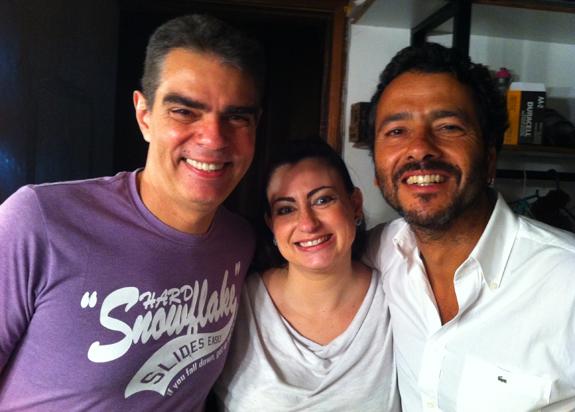 Nizo Neto, pai de Rian, ao lado do ator Marcos Palmeira (Foto: Divulgação)