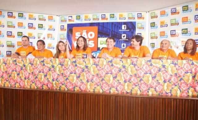 Eliziane, Paulo Matos e pré-candidatos na apresentação do Programa São Luís de Verdade