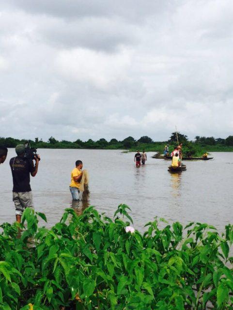 pescadores na manhã de hoje quando localizaram o corpo da menina Rafiza