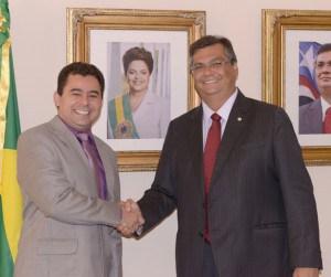O prefeito de Barra do Corda, Eric Costa, e o governador Flávio Dino